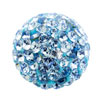 přívěšek ze SWAROVSKI ELEMENTS mix parts kamínek 10mm aquamarine ocel