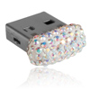 paměťové medium USB mix parts ze SWAROVSKI ELEMENTS 8 GB crystal ab