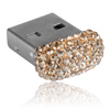 paměťové medium USB mix parts ze SWAROVSKI ELEMENTS 8 GB crystal golden shadow