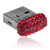 paměťové medium USB mix parts ze SWAROVSKI ELEMENTS 8 GB light siam