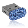 paměťové medium USB mix parts ze SWAROVSKI ELEMENTS 8 GB sapphire