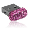 paměťové medium USB mix parts ze SWAROVSKI ELEMENTS 8 GB fuchsia